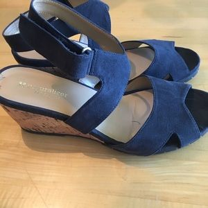 203712d5dae3 Naturalizer Shoes - Naturalizer Fitz Wedge Sandal Navy Blue Size 9.5